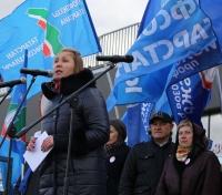 Профсоюзы вновь выступили за достойный труд